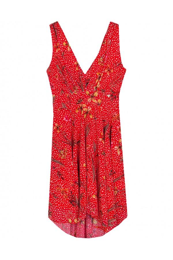 09d2f2a39b72 LYNNE Πολύχρωμο ασύμμετρο φόρεμα 039-511051