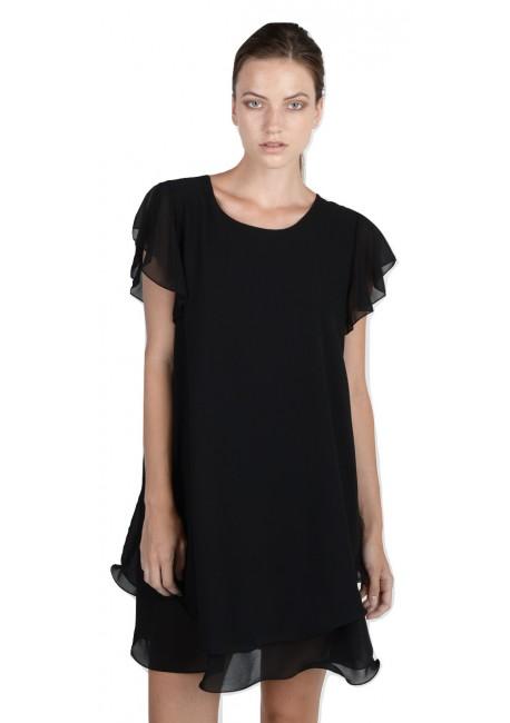 baef27b1823c LYNNE Κοντό κλος φόρεμα με βολάν 040-511008