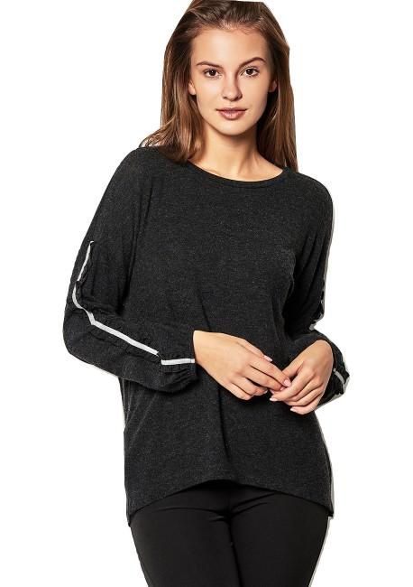 b6b93918f111 LYNNE Πλεκτή μπλούζα με βολάν 140-510096
