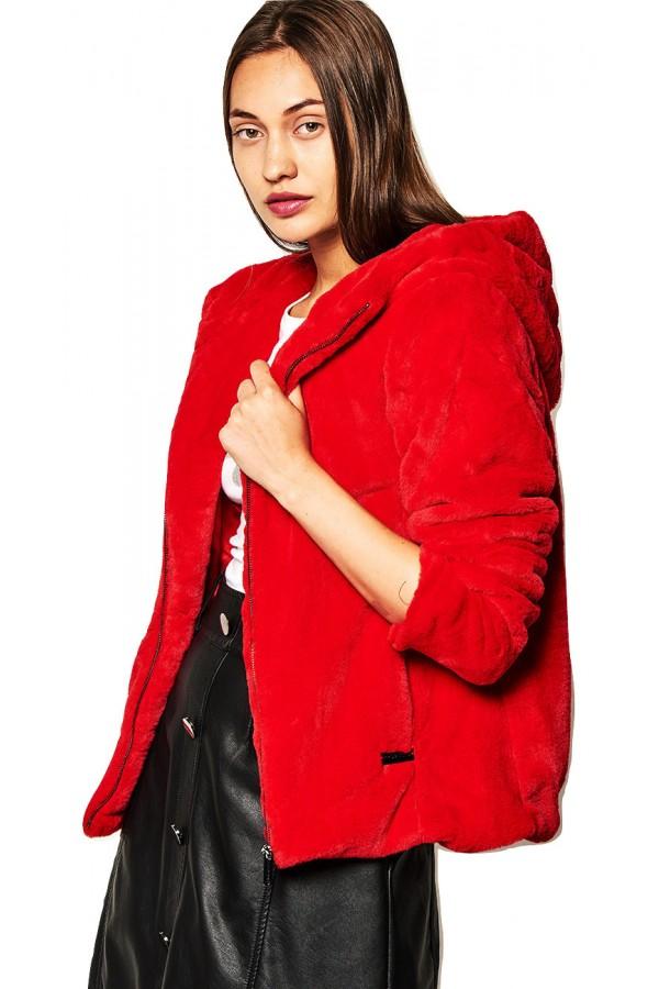 LYNNE Μπουφάν με συνθετική γούνα με κουκούλα 040-519008 3888a5d3e86