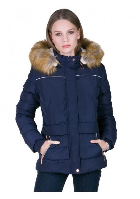 LYNNE Μπουφάν με γούνα και κουκούλα 60-0899-28 89d706519f3