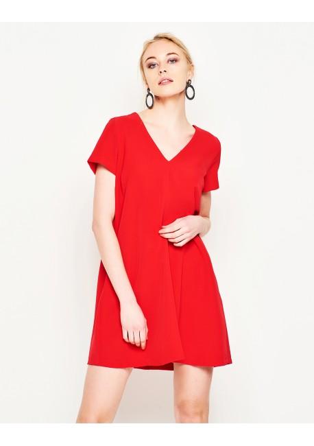 d296534e3181 LYNNE Μονόχρωμο κλασικό φόρεμα 141-511020