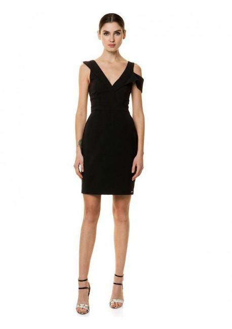cdf11b348154 TOI   MOI Εφαρμοστό φόρεμα με ιδιαίτερη τιράντα 50-3859-19
